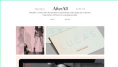AfterAll - Web design inspiration from siteInspire
