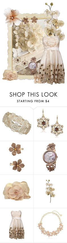 """""""Take #339"""" by sasane ❤ liked on Polyvore featuring Dorothy Perkins, Carolee, Monsoon, Akribos XXIV, Sondra Roberts, TFNC, Anne Klein and Jimmy Choo"""