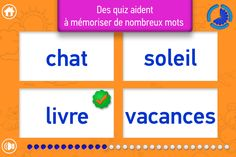MES MOTS: reading game for kids in French. Good and simple practice for kids to start learning FRENCH.  #Kiddywords #kiddystarter