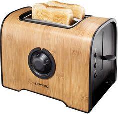 Privileg Toaster Bambus - Gehäuse mit echtem Bambus-Furnier