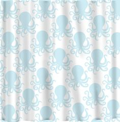 Custom Octopus Shower Curtain Any Color by redbeauty on Etsy- i wish it were multi colored (pastels)
