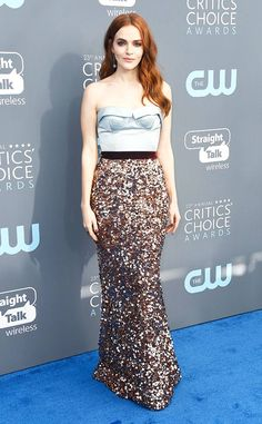 Madeline Brewer from 2018 Critics' Choice Awards Red Carpet Fashion  The Handmaid's Tale star celebrates the show's success at The Barker Hangar in Santa Monica, Calif.