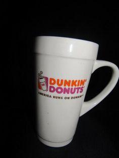 Dunkin Donuts classic white mug America runs on Dunkin Dunkin Iced Coffee, 16 Oz Coffee Mugs, Tea Mugs, Coffee Cups, Coffee Time, Specialty Coffee Drinks, Diy Tent, Logo Mugs, St Patricks Day Food