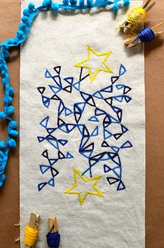 A pretty embroidery pattern for those with stars in their eyes.