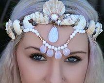 white gypsy-mermaid crown