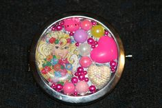The Check Me Out Retro Barbie Compact Mirror by NessasCloset, $19.99