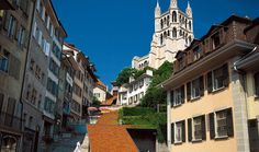 Cathedral of Notre-Dame in Lausanne Switzerland
