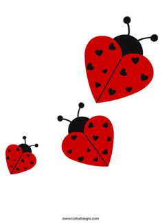 Maybe as homemade valentine? Crafts For Kids, Arts And Crafts, Paper Crafts, Diy Crafts, Lady Bug, Stone Drawing, Ladybug Party, Love Bugs, Kirigami