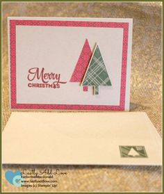 """Set of 4 handmade Christmas Cards and envelopes. Inside features sentiment """"May…"""