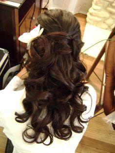 Not feeling the hair trial- how can I improve my look? :  wedding bad hair trial curly hair half up half down Bride Hair 633 10 M