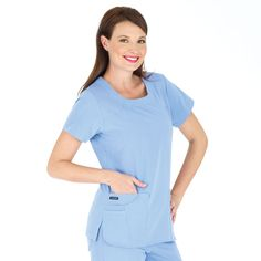 Jockey Scrubs - Ladies 6 Pocket Jewel Neck Scrub Top