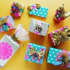 My oh my...how cute is this wrapping by @hellosandwich!?! She sure knows what she's doing!! #wrappinginspiration #wrapitpretty #wrapping #giftwrap