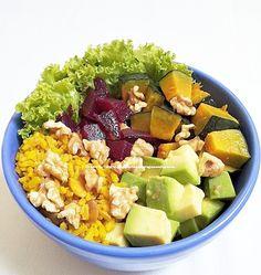 Lunch today  Roasted pumpkin and beet, brown rice with turmeric and seeds, avocado, lettuce and hazelnut.  #veganfoodshare #vegancommunity #mindbodygram #vegansvegetarians #veganlifestylemagazine #vegetariantimesmag #vegetariantraveler #veganeatsnyc #plantbased #vegansofig #vegansofinstagram #veganfood #veganfoodporn #veganlife #whatveganseat #healthyfood #goodfood #veganbowls  Yummery - best recipes. Follow Us! #veganfoodporn