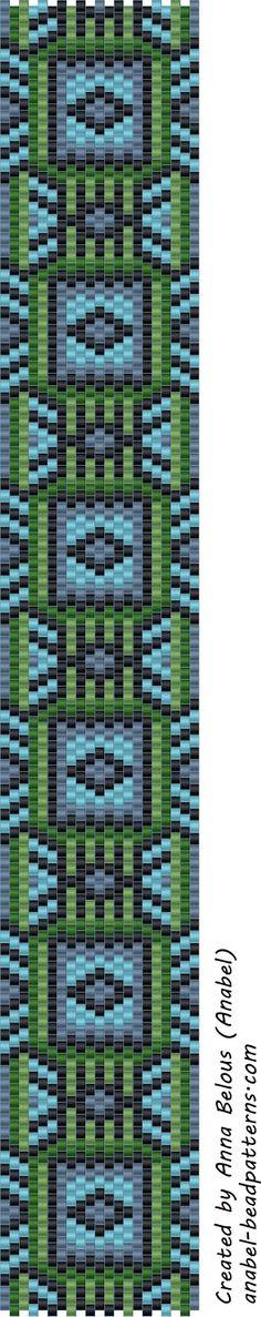 Схема браслета - мозаичное плетение | - Схемы для бисероплетения / Free bead patterns -