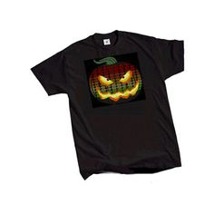 Electro-Luminescent Led Shirt With Music Activated Pumpkin Led T Shirt US$13.99