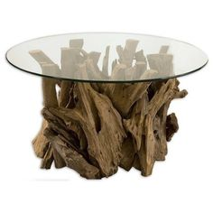 Driftwood Cocktail Table - eclectic -   neat coffee table for a cabin!