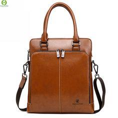 Aliexpress.com   Buy Brand Men Handbag Business Genuine Leather Bag Men s  Messenger Bags Vintage Briefcase Male Laptop Shoulder bag sacoche homme  from ... 3163af7452a