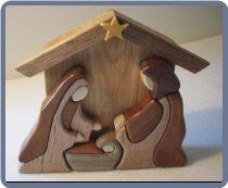 Wood Intarsia Nativity Scene