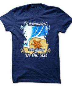 Turtles-T-Shirt--I-Am-Happiest-When-Floating-In-The-Sea