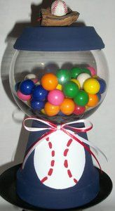 Baseball  Faux Gumball Machine by ElegantlyCentered on Etsy, $12.00