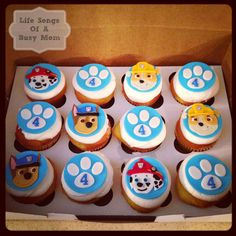 Throw an exceptional get-together for your children's birthday party with these 7 fascinating paw patrol party ideas. The thoughts must be convenient to those who become the true fans of Paw Patrol show. Bolo Do Paw Patrol, Paw Patrol Cupcakes, Paw Patrol Birthday Cake, Paw Patrol Party, Rubble Paw Patrol Cake, Paw Patrol Cupcake Toppers, 4th Birthday Parties, Birthday Cupcakes, Birthday Fun