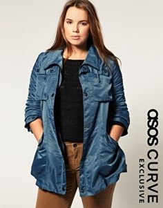 ASOS CURVE Exclusive Airforce Parka - StyleSays
