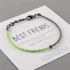 Hey, I found this really awesome Etsy listing at https://www.etsy.com/listing/193997600/friendship-bracelet-best-friends