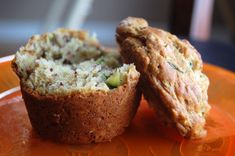 Banana Zucchini Oat Muffins Dry: 1 cup rolled oats 1 1/2 cup flour 1/4 cup sugar  2 tsp baking powder 1 tsp baking soda pinch of salt Wet: 1 egg 1 cup milk 1/4 vegetable oil  1 cup mashed banana 1 cup grated zucchini (or carrots, or both) 1. preheat oven to 400F. 2. Mix dry and wet separately, then combine. 3. Bake.
