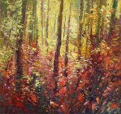"Don Sahli ""Forest Tapestry"" 36 x 36 Oil on Canvas Southwest Art, List Of Artists, Image Of The Day, Impressionism Art, Magazine Art, Fine Art Gallery, Insta Art, Still Life, Oil On Canvas"