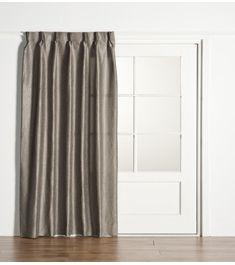 gordijnen voor de slaapkamer. grijs met een lichte zilveren glans, Deco ideeën