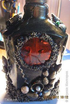 Здравствуйте! Выставляю на Ваш суд бутылочки по технике Пейп-Арт и уже полюбившийся мне морской тематике. фото 6