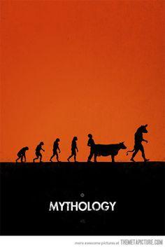 funny evolution monkey minotaur