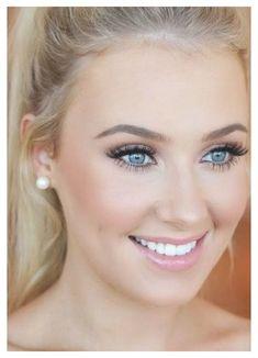 Wedding Makeup Blonde, Wedding Makeup For Blue Eyes, Simple Wedding Makeup, Wedding Eye Makeup, Wedding Makeup Tutorial, Natural Wedding Makeup, Blue Eye Makeup, Wedding Hair And Makeup, Natural Makeup