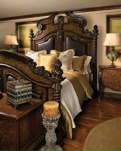 hand carved bed | kings beds | castle beds | gothic beds | custom