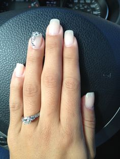 Wedding nails sparkles crystals