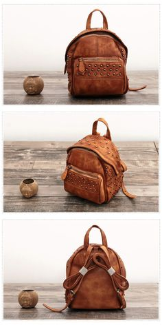 a653a0b80bd Handmade Full Grain Leather Backpack Women Backpack We use genuine cow  leather, quality hardware to
