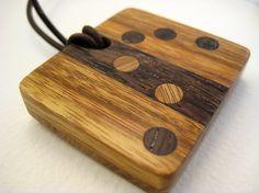 Handmade Wood Pendant brick by brick by RamshackleStudio on Etsy