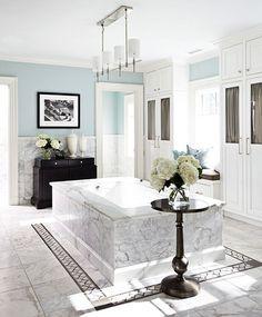 simple marble bathroom.