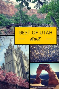 Best Utah Destinations from A to Z. Since I'm stuck Herr, I might as well look around...maybe. #GeorgeTupak