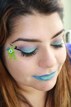 Check out this cute Monsters University Makeup look by Prettyinpigment.com