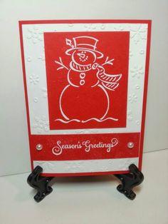 Season's Greetings Red and White www.facebook.com/KatherinesHandmadeCreations