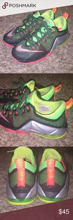 Lebron James XII 12 lows size 7Y GS Very loved and well taken care of Lebron 12 lows. Very clean. Does NOT come with original box. Smoke free, pet free home. No trades. Nike Shoes Sneakers