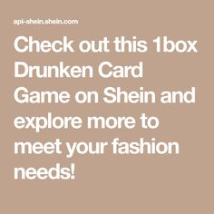 Check out this 1box Drunken Card Game on Shein and explore more to meet your fashion needs! Couples Game Night, Couple Games, Meet You, Card Games, Cards, Explore, Amazing, Check, Fashion