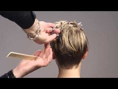 Sexy Hair Modern Hollywood Collection Short Hair Cut - YouTube