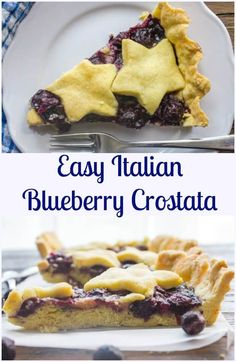 An Easy Italian Dessert Recipe, Blueberry Crostata made with a tasty fresh…