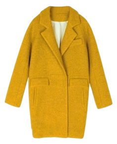 Solid-tone Dropped-shoulder Md-long Cocoon Coat
