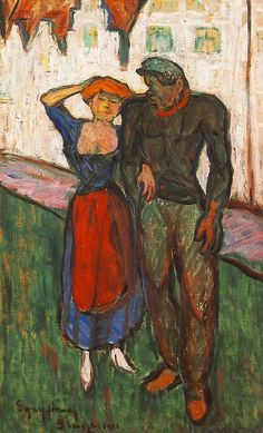 Lovers - Jozsef Egry, 1911