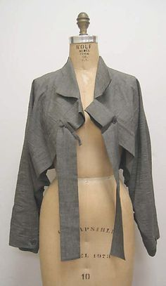 Issey Miyake (Japanese, born 1938) - Jacket, ca. 1984 Medium: cotton, linen, plastic