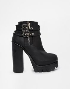 New Look | New Look Chrysler Chunky Platform Heeled Ankle Boots at ASOS