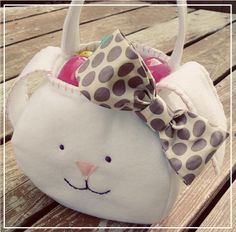A little bunny basket. Tutorial